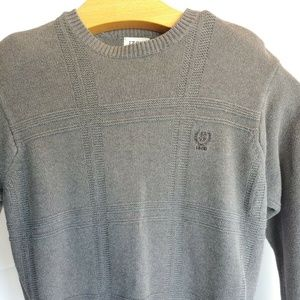 Izod Mens Sweater Long Sleeve  grey 100% Cotton